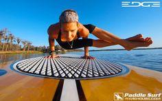 H2yo = Yoga on the water. Julie Roach rocking it on her Yoga Paddle Board.  #Yoga, Yoga, #Paddleboard, Paddleboard, #Women SUP, Women-Sup www.paddlesurfwarehouse.com  www.paddlesurfwarehouse.com