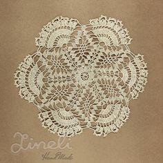 Vintage Handmade Crochet Lace Doily  Lace by LineliHandmade