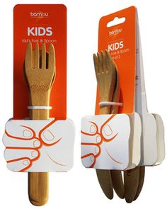 .Kid cool wooden utensil #packaging PD