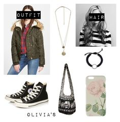 """""""SNOWY DAY (Bad Blood)"""" by oliviainezcervantes on Polyvore featuring GUESS, Converse, Forever 21, Ted Baker and badblood"""