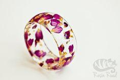 Pink Bangle Rose Bracelet Chunky Resin Bangle by ResinRoad on Etsy Rose Jewelry, My Spring, Bangles, Bracelets, Jewlery, Wedding Rings, Romantic, Engagement Rings, Purple