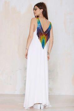 Mara Hoffman Do or Tie-Dye Fringe Dress | Shop What's New at Nasty Gal