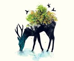 abstract deer art - Google Search
