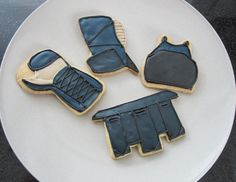 Kendo bogu cookies! Almond cookies decorated with royal icing