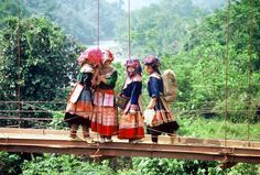 Sapa Mountains, Vietnam - region of beautiful mountain scenery and remote villages inhabited by a variety of hill tribes