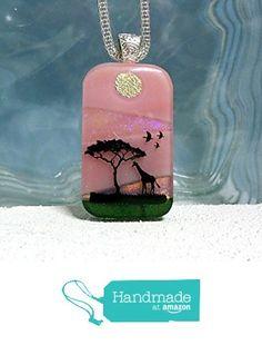 Fused Glass Pendant Necklace Giraffe Silver Bail - Ready to Ship A2936 from Lolas Glass Pendants http://www.amazon.com/dp/B015JFAP14/ref=hnd_sw_r_pi_dp_kl-Cwb0E2X573 #handmadeatamazon