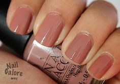 Opi Barefoot in Barcelona... Looks fantastic with a matte finisher top coat!