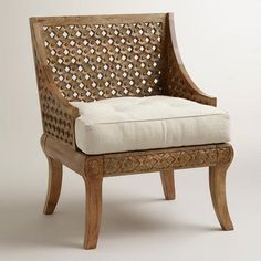 One of my favorite discoveries at WorldMarket.com: Tribal Carved Chair Liked @ www.homescapes-sd.com #homescapes #staging