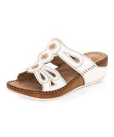 Love this White Contrast Stitch Sandal on #zulily! #zulilyfinds