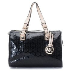 MK - MICHAEL Michael Kors Grayson Medium Monogram Satchel Black - $85.00 : michaelkors.shoplal.com