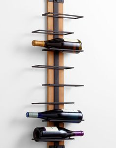 Staggered Rustic Wine Holder