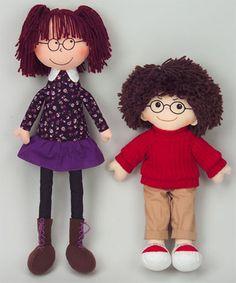 Boy or Girl Wearing Glasses - 2 Dolls