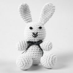 A crocheted Bunny Rabbit from Cotton Yarn