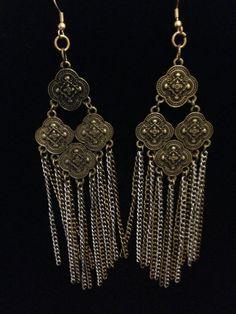 Bronze Tone Dangle Earrings by CountryGalPicker on Etsy, $10.00