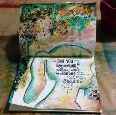 Mixed Media Art Journal: Remember #art #journal
