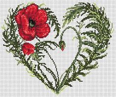 Here you'll find a great selection of cross-stitch designs, patchworks, seams and needlepoint items and knitting accessories. Cross Stitch Heart, Cross Stitch Flowers, Modern Cross Stitch, Cross Stitch Designs, Cross Stitch Patterns, Cross Stitching, Cross Stitch Embroidery, Embroidery Patterns, Hand Embroidery