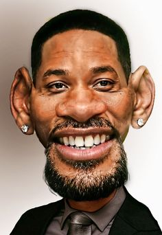 Will Smith Celebrity Caricatures Funny