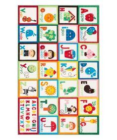 Look at this #zulilyfind! Alphabet Block Rug #zulilyfinds