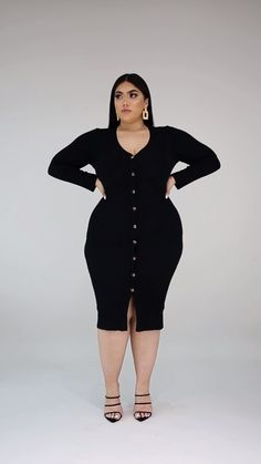 A casual style that is perfect for any event that you are obligated to attend, be it work or play, you will look great! This style can be dressed up for a Plus Size Fashion For Women, Curvy Women Fashion, Girl Fashion, Fashion Outfits, Fashion Tips, Date Dresses, Plus Size Dresses, Plus Size Outfits, Curvy Women Outfits