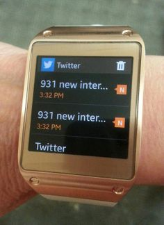 One reason why the #Twitter app on a @Samsung Mobile smartwatch might not be a good idea for me