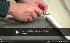 DIY Video: How to Replace a Door or Window Screen - If you have a damaged window or door screen, we'll show you how to make a simple repair. You don't need to buy a new frame - all you need is a replacement screen. Watch: http://www.familyhandyman.com/windows/how-to-replace-a-door-or-window-screen