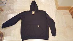 NWT Carhartt® MW Original Fit  Pullover Hoodie Hooded Sweatshirt-Black-XXL 2XL #Carhartt #Hoodie