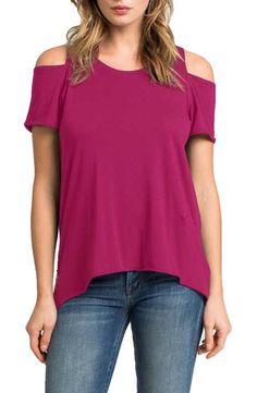 LAmade Cold Shoulder Short Sleeve Tee