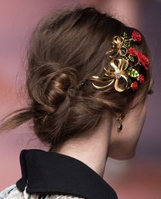 What's Fall's Most On-Trend Hairstyle? A Runway-Inspired French Twist, of Course - Dolce & Gabanna - from InStyle.com