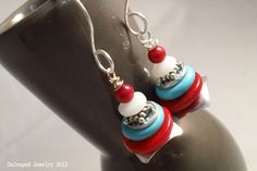 Southwestern inspired Salvaged Stainless Steel Metal & Washers, Turquoise & Coral Beads SalvagedJewelry, $18.00