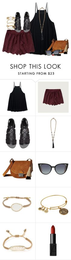 """something different"" by smbprep ❤ liked on Polyvore featuring Aéropostale, Abercrombie & Fitch, H&M, Zeus+Dione, Loeffler Randall, Fendi, Tai, Alex and Ani, Kendra Scott and NARS Cosmetics"