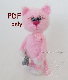 PLEASE NOTE: THIS IS A PATTERN ONLY and NOT THE FINISHED TOY!!!  Crochet pattern by Yanina Kamyshan  MATERIALS AND TOOLS you will need: - main color