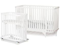 Argington Organic Bam Crib/Bassinet Set, White (Discontinued by Manufacturer)
