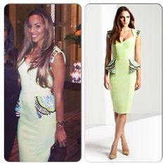Rochelle Humes posted this pic of herself on her Instagram while holidaying in Dubai...she looks amazing wearing our embellished peplum dress 'Cassia'...available here... http://www.foreverunique.co.uk/all-clothing/cassia-lime-green-pencil-dress/prod_3600.html #rochellehumes #thesaturdays #fashion #style