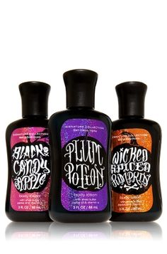 bath and body Halloween products