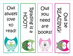 "Classroom Freebies Too: ""Owl Be Reading"" Bookmarks"