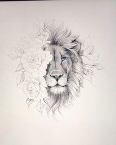 Lion And Rose Tattoo, Lion Leg Tattoo, Leo Lion Tattoos, Tattoos Bein, Lion Tattoo Sleeves, Sleeve Tattoos, Mandala Lion Tattoo, Tattoo Man, Tattoo Designs Foot