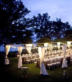 would not mind an outside wedding/reception
