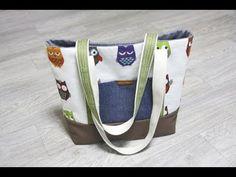 DIY Canvas Tote Bag Tutorial Sewing step by step