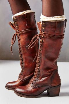 Lace-Up Tall Boot women's fashion