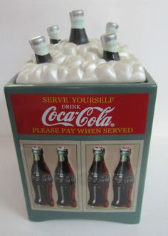 Coca-Cola Cooler Cookie Jar with box