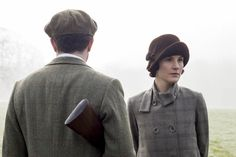 Tony & Mary on the Downton grounds, spring 1924.