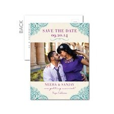 Embellished Waves Save The Date Cards