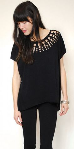 Organic cotton laser cut tee by one of my favorite eco brands--Curator.