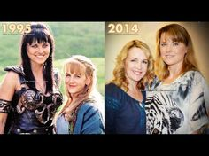 Xena and Gabrielle / Lucy Lawless and Renee O'Connor - Then and now