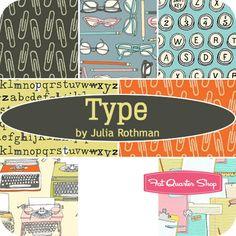 Type Fat Quarter Bundle Julia Rothman for Windham Fabrics