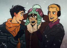 Percy and Nico and Jason | art by monkeyscandance