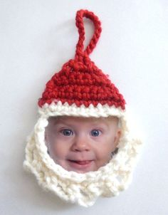 Santa Frame Ornament     Home Page    Santa Frame Ornament   This is a frame ornament for a small facial picture.   I made the pattern a fe...