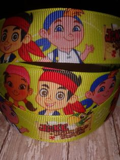 Jake and the Neverland Pirates Grosgrain Ribbon by ILoveYouMoreCreation on Etsy
