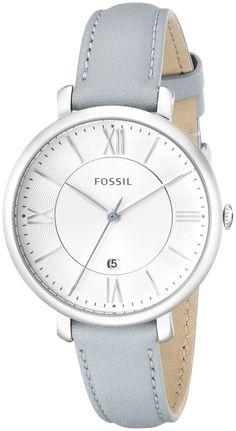 Amazon.com: Fossil Women's ES3821 Jacqueline Analog Display Analog Quartz Blue Watch: Watches
