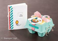 … so lautet eines der Gratis-Stempelsets aus der Sale-a-bration Broschüre von Stampin' Up! Das Stempelset enthält ein paar verrückte Hühner :-), mit denen man tolle Sachen zaubern kan…